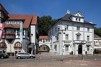 D-Bergisch Gladbach, Bergisches Land, North Rhine-Westphalia, Konrad Adenauer Square, city hall, historicism, brewhouse Am Bock, guesthouse, restauran...
