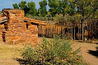 East Cabin and corral at Pipe Springs National Monument, near Fredonia, Arizona
