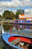 B&Q DIY store by the Grand Union Canal, Hemel Hempstead, UK