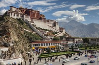 The Potala Palace towers majestically over the city of Lhasa.