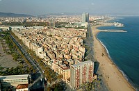 Quartier and beach of La Barceloneta, Barcelona
