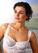 beauty, woman in underwear