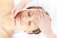 Slack woman having a massage in a spa