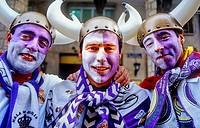 Fans of Real Madrid CF  Near Real Madrid Stadium  Madrid,Spain