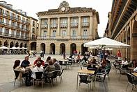 Plaza de la Constitucion, San Sebastian, Gipuzkoa, Euskadi, Spain