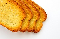 Sliced of baked dry bread