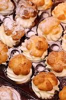 Cream puffs, Catalonia, Spain