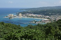 View of Ocho Rios on island of Jamaica