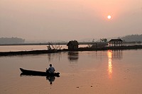 Sun Rise - Backwaters of Kerala, India