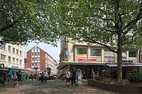 Germany, Kiel, Kiel Fjord, Baltic Sea, Schleswig-Holstein, Alter Markt, view to the Danish Street, business premises
