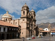 Peru. Cusco city. Plaza de Armas and the Church of La Compa&#241;ia