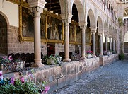 Peru. Cusco city. Convent of Santo Domingo (Koricancha). Cloister