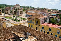 Red rooftops on the Plaza Mayor, Trinidad, Sancti Spiritus, Cuba.