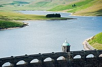 Craig Goch dam and reservoir, Eland Valley, Powys, Wales