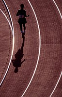 Runner on a track