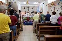 Christmas service, small catholic church, Phuket, Thailand