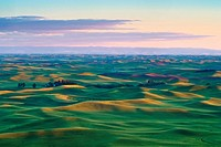 The Palouse from Steptoe Butte at sunset