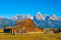 Tetons from John Moulton Barn, Grand Teton National Park