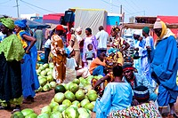 Senegal _ Saint_Louis region _ Keur Momar Sarr _ Marketplace