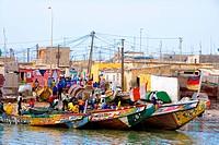 Senegal _ Saint_Louis _ Langue de Barbarie _ Guet N´Dar _ Fishermen´s village