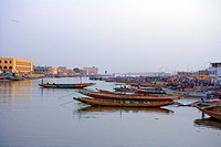 Senegal _ Saint_Louis _ South island district and Langue de Barbarie _ Guet N'Dar _ Fishermen's village