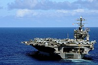 PACIFIC OCEAN Sept  19, 2010 The aircraft carrier USS Abraham Lincoln CVN 72 transits across the Pacific Ocean  The Abraham Lincoln Carrier Strike Gro...