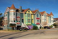 Colorful Victorian Homes in Woodland Heights - Houston, Harris County, Texas