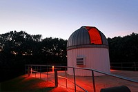 George Observatory West Dome which houses the 14 inch Celestron Schmidt-Cassegrain telescope satellite facility of the Houston Museum of Natural Scien...