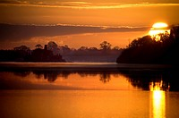 Lough Key at sunset in County Roscommon