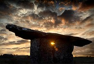 Sunset at Poulnabrone Dolmen, County Clare