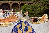 THE PARK GUELL IS ONE OF THE CREATIONS OF THE ARCHITECT ANTONI GAUDI WHICH ARE LISTED AS A WORLD HERITAGE SITE BY UNESCO
