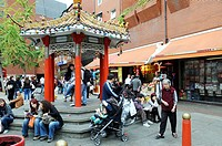 London´s Chinatown around Gerrard Street and Lisle street, London. United Kingdom.