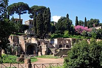THE FARNESE PAVILIONS IN THE GARDEN ON THE PALATINE, ROME, ITALY