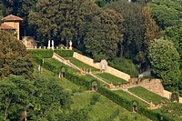BOBOLI GARDENS GIARDINO DI BOBOLI AND PITTI PALACE, FLORENCE, TUSCANY, ITALY