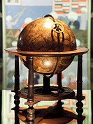 Celestial globe. This 17th century celestial globe was designed by the Dutch publisher and cartographer Willem Blaeu 1571_1638, who learnt his craft a...