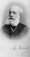 Friedrich August Kekule von Stradonitz 1829_1896, German organic chemist. In 1858 Kekule proposed that the valence of a carbon atom the fixed number o...