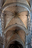 DETAIL VAULT AVILA CATHEDRAL, CASTILLA Y LEON, SPAIN