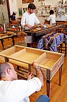 MARQUETRY WORKSHOP, MUSEUM OF DECORATIVE ARTS, MUSEA DE ARTES DECORATIVAS, RICARDO DO ESPERITO SANTO SILVA FOUNDATION, PORTUGAL, EUROPE