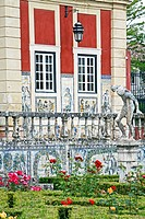 GARDENS IN THE PALACIO QUINTA DOS MARQUES DA FRONTEIRA, FRONTEIRA PALACE, AT THE FOOT OF THE MONSANTO HILL, ON THE OUTSKIRTS OF LISBON. IT POSSESS A U...
