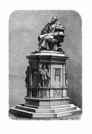 Johannes Kepler monument. Artwork of the monument and statue to the German mathematician, astronomer and astrologer Johannes Kepler 1571_1630, erected...