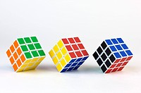 Three Puzzle Cubes