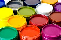 Jars of paint, full frame (thumbnail)