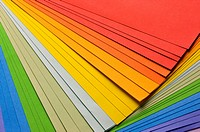 Stack of color paper