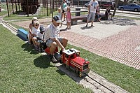miniature train, Castell d'Aro, Catalonia, Spain