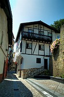 Town house facade  Pasai San Pedro  Basque country  Gipuzkoa  Spain