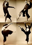 Montage of a woman dancing