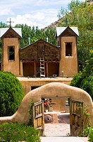 Santuario de Chimayo in Chimayo, New Mexico was built in 1816  It is believed to be built on sacred earth with miraculius healing powers, the legendar...