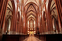 Polish catholic cathedral inside interior horizontal