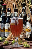BOTTLES OF EURELIENNE BEER, TRADITIONAL BREWERY, CHANDRES MICROBREWERY, EURE_ET_LOIR 28, FRANCE