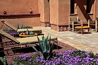 GARDEN, ECO_LODGE DESIGNED IN THE PURE BERBER TRADITION WITH ATTENTION GIVEN TO COMFORT AND RESPECT FOR THE ENVIRONMENT, TERRES D´AMANAR, TAHANAOUTE, ...